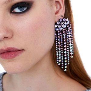 2/$35 🖤 ZARA Pink Rhinestone Waterfall Earrings